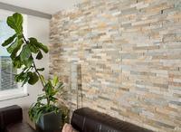 WALLSTONE Q - KVARCIT KŘEMEN - Obkladový panel lepený z přírodního kamene
