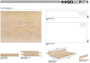 IMOLA  - STROBUS - Glazovaná slinutá dlažba imitace dřeva - 5